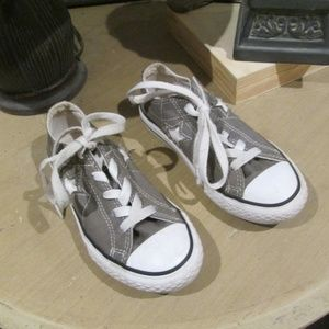 Converse One Star Cutout Gray Sneakers Gym Shoes